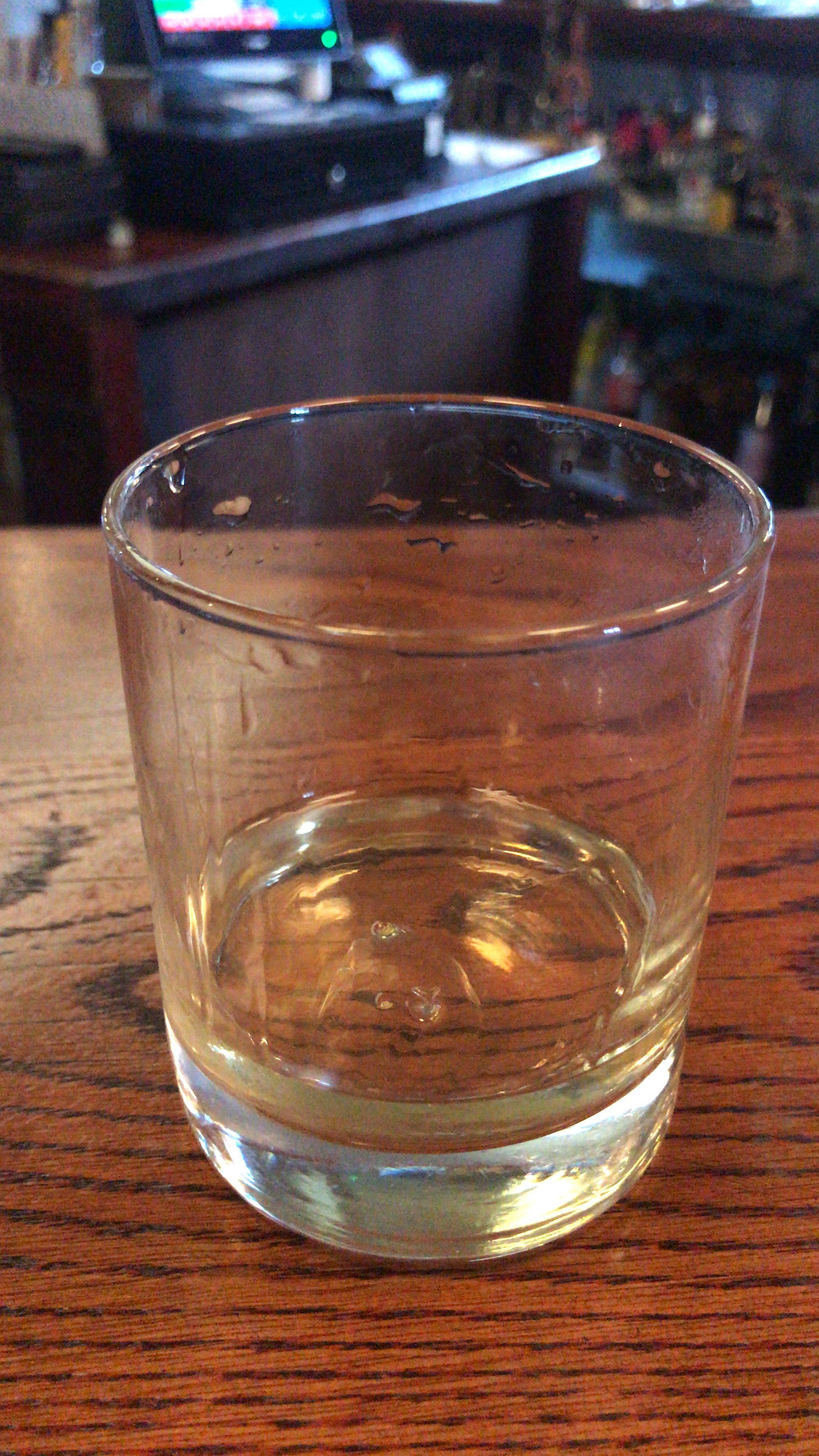 Single malt whiskey in a glass