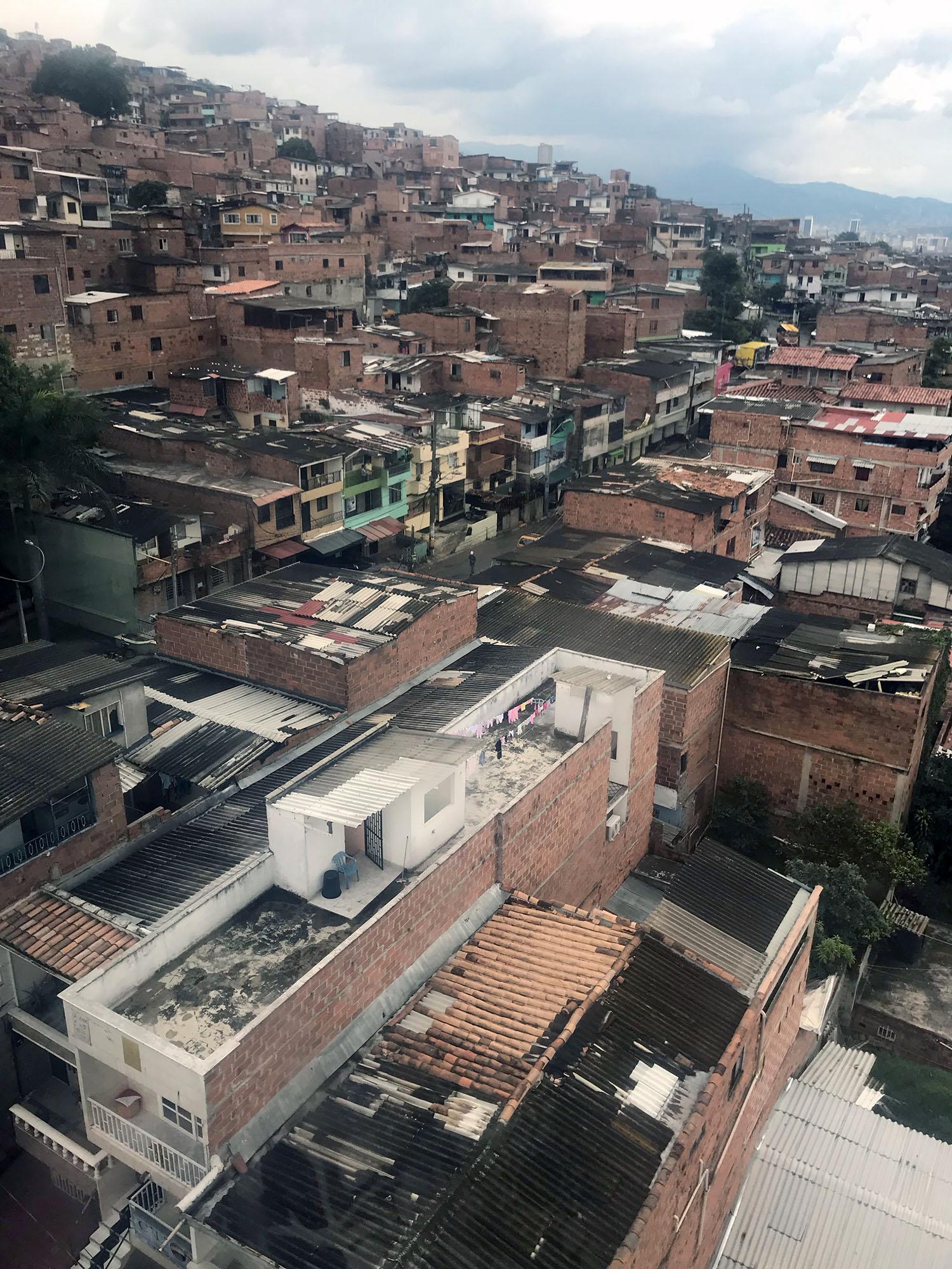 Buildings on the hillside of Medellin