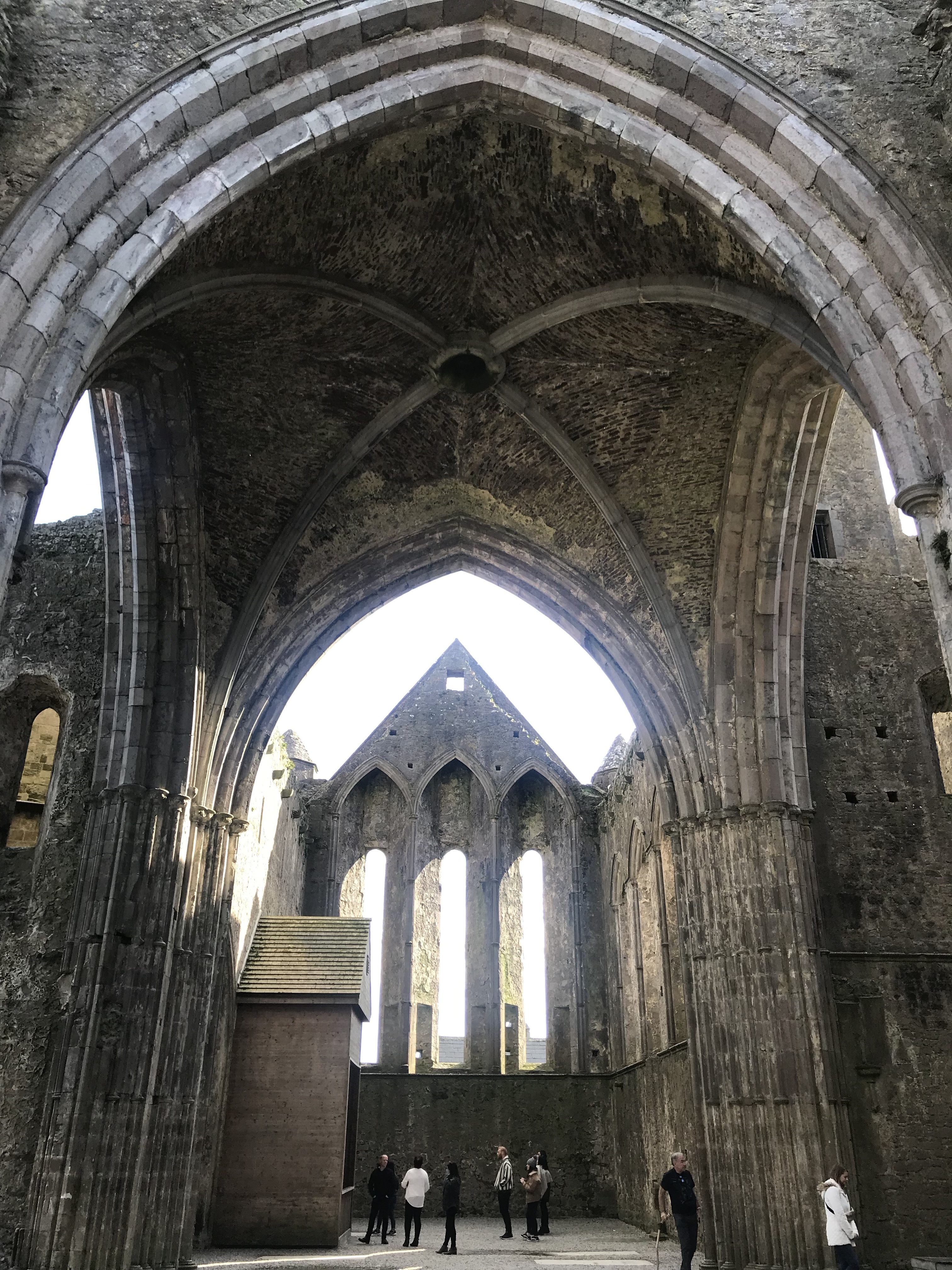 Ruins of Avery large ancient gothic cathedral