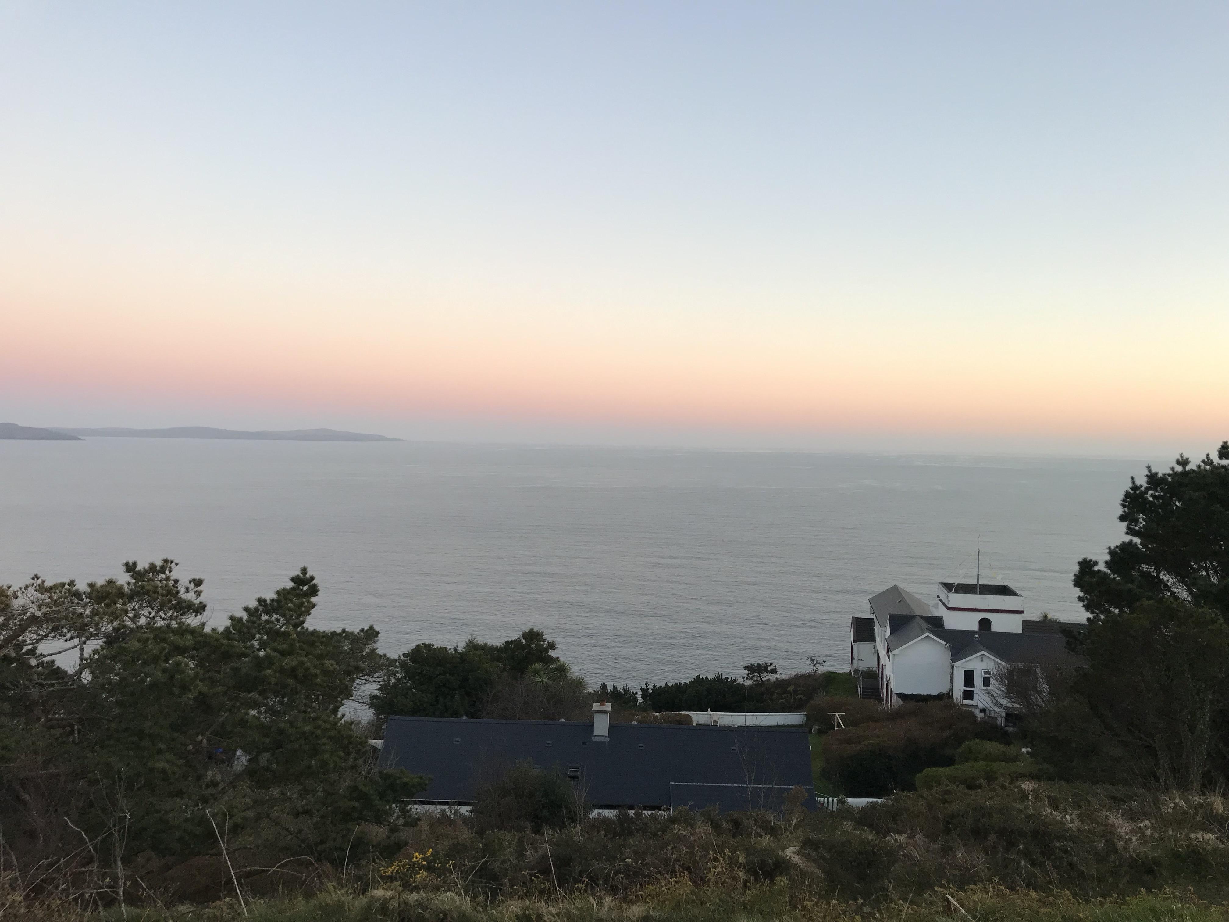 Dusk on the cliffs of cork Ireland