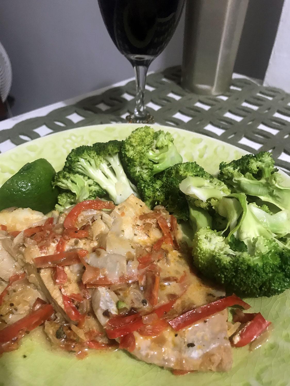 Fish and veggies