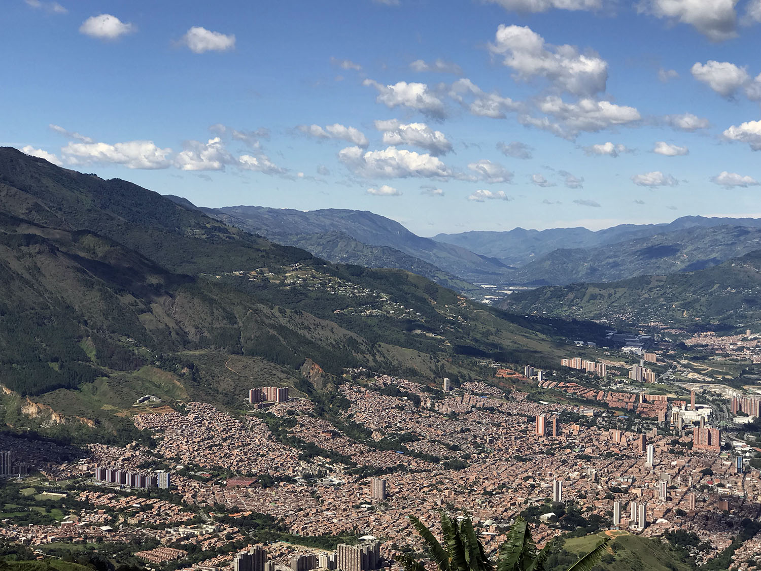 View from the overlook at the north end of Medellin