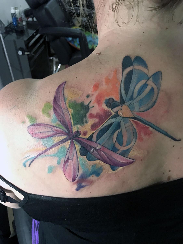My dragonfly tattoos!