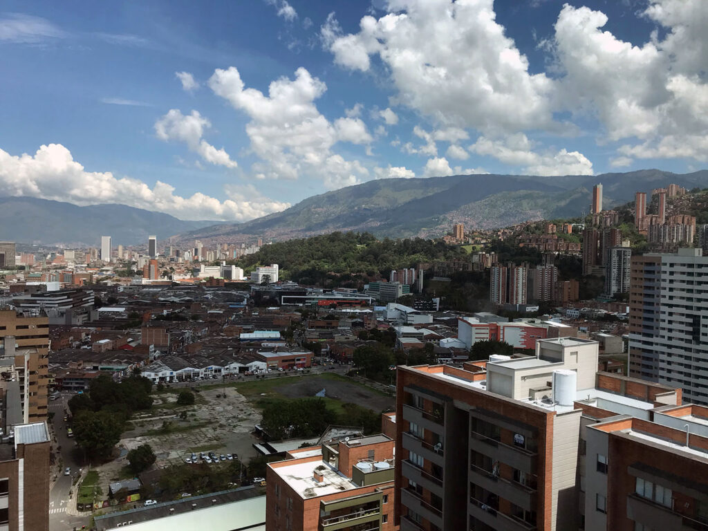 View of Medellin from the 25th floor