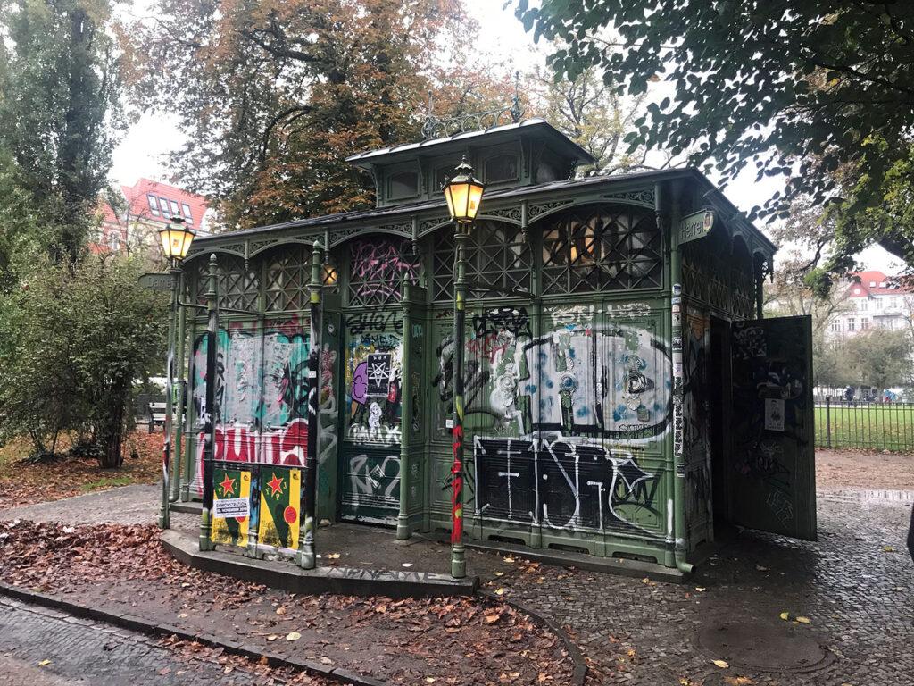 Public toilet in a park