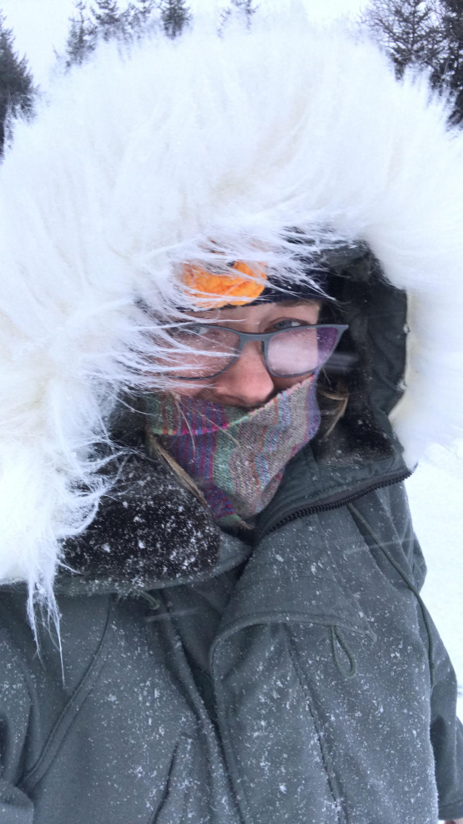 Looking like an eskimo
