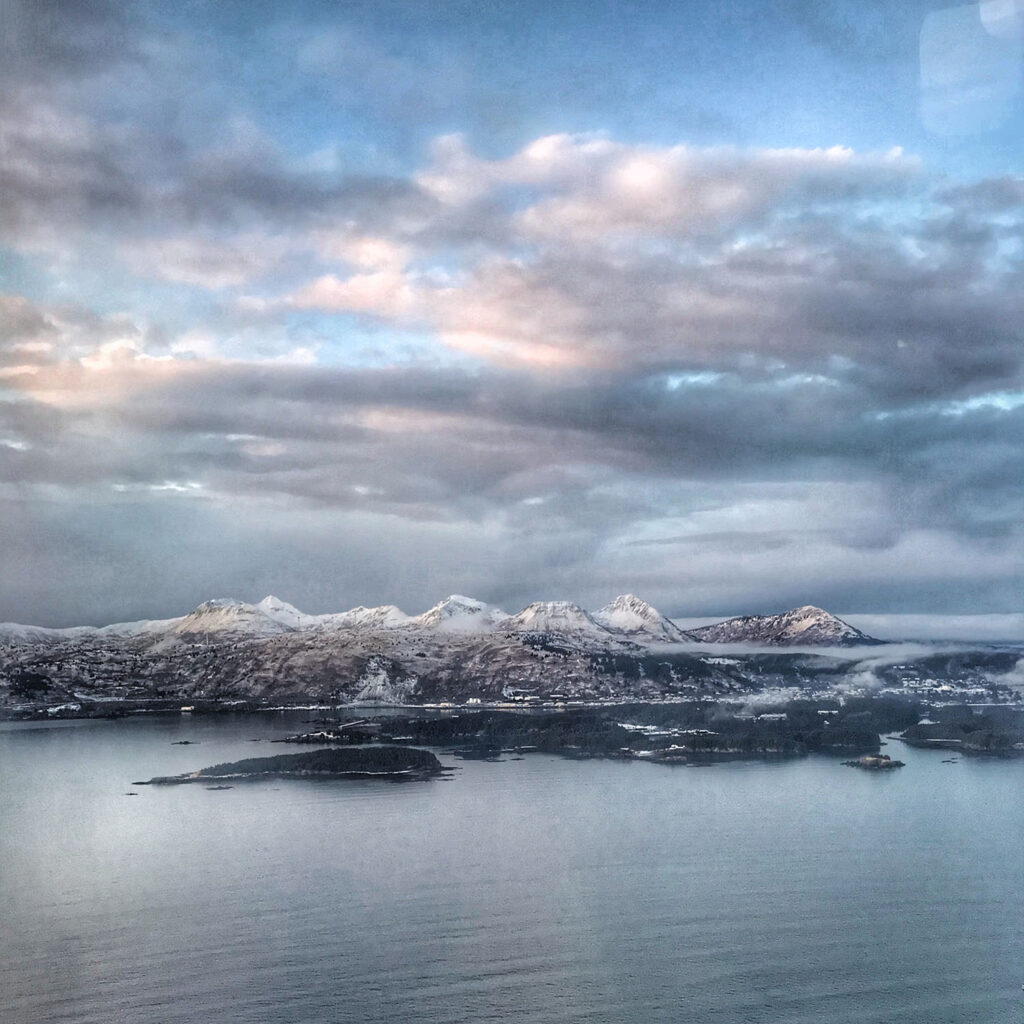 From the air over Kodiak Island