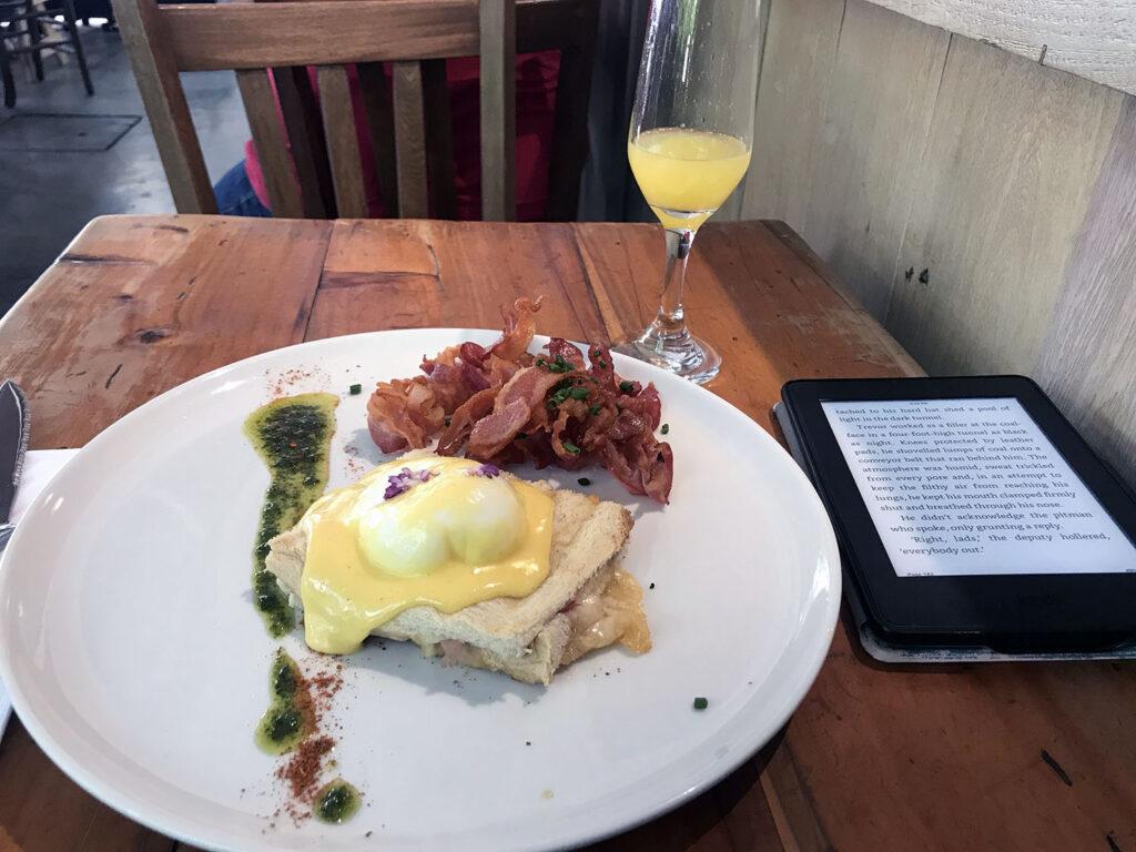 eggs benedict & mimosa